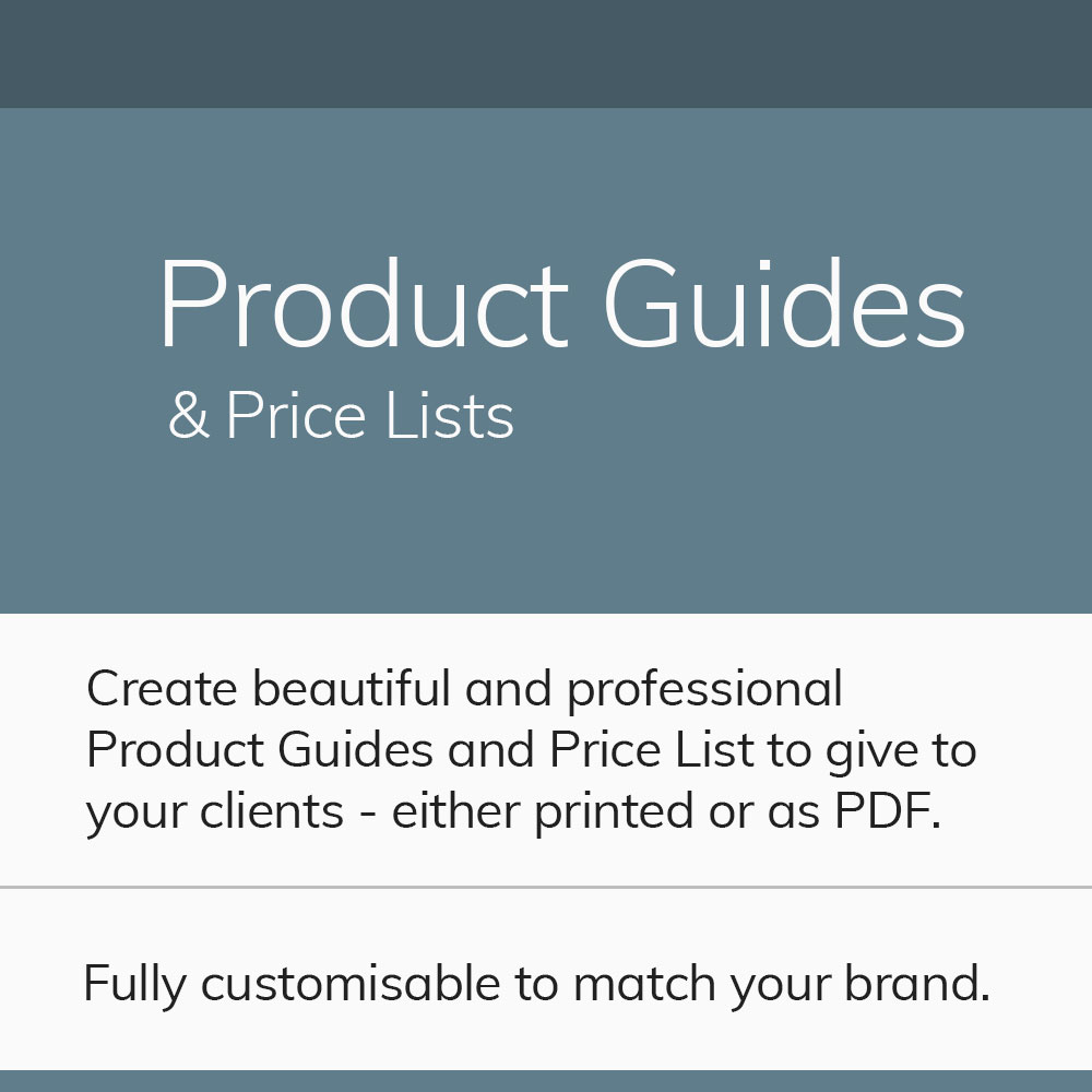 Product Guides & Price Lists